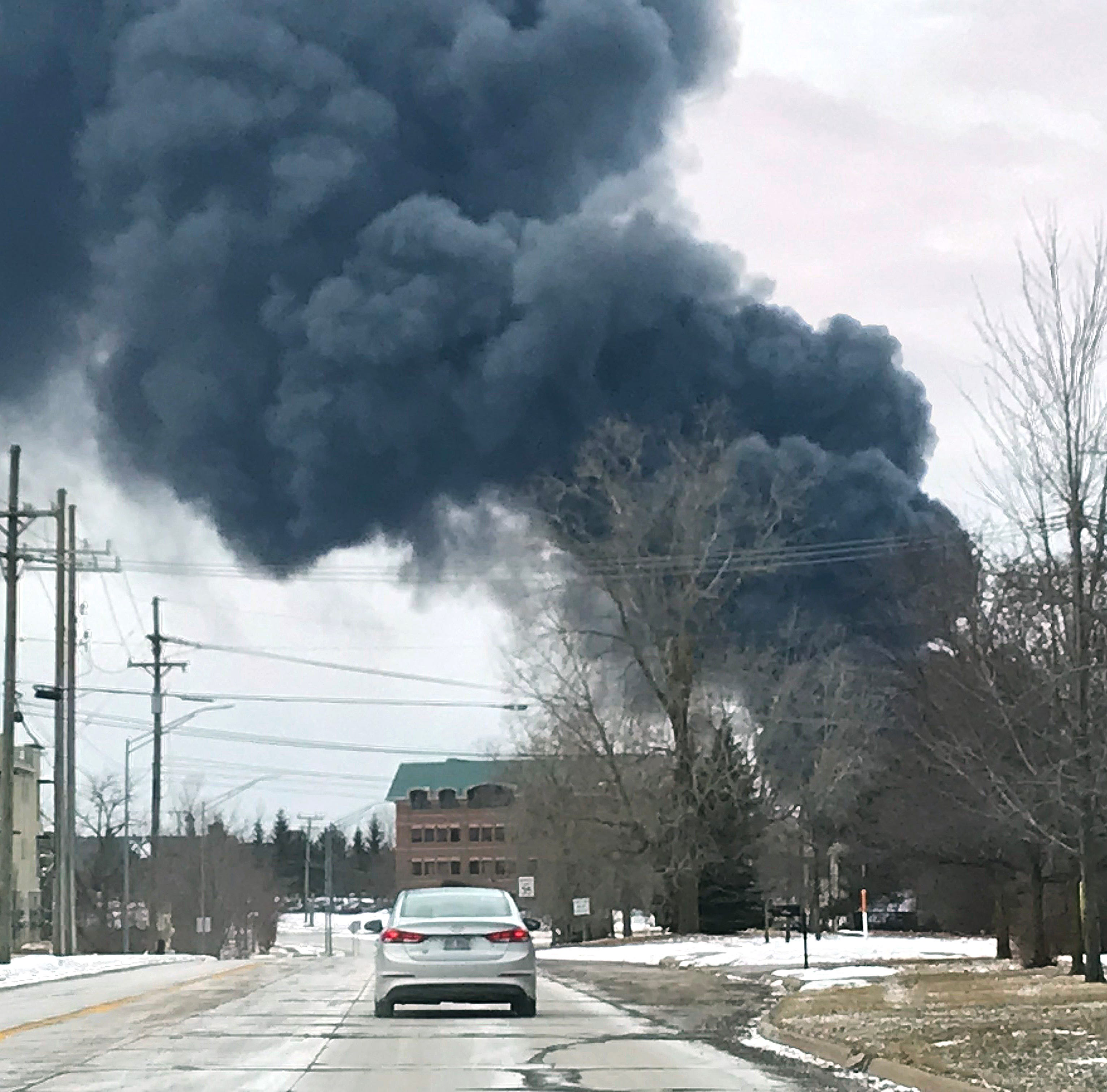Blaze erupts at Auburn Hills plastics plant