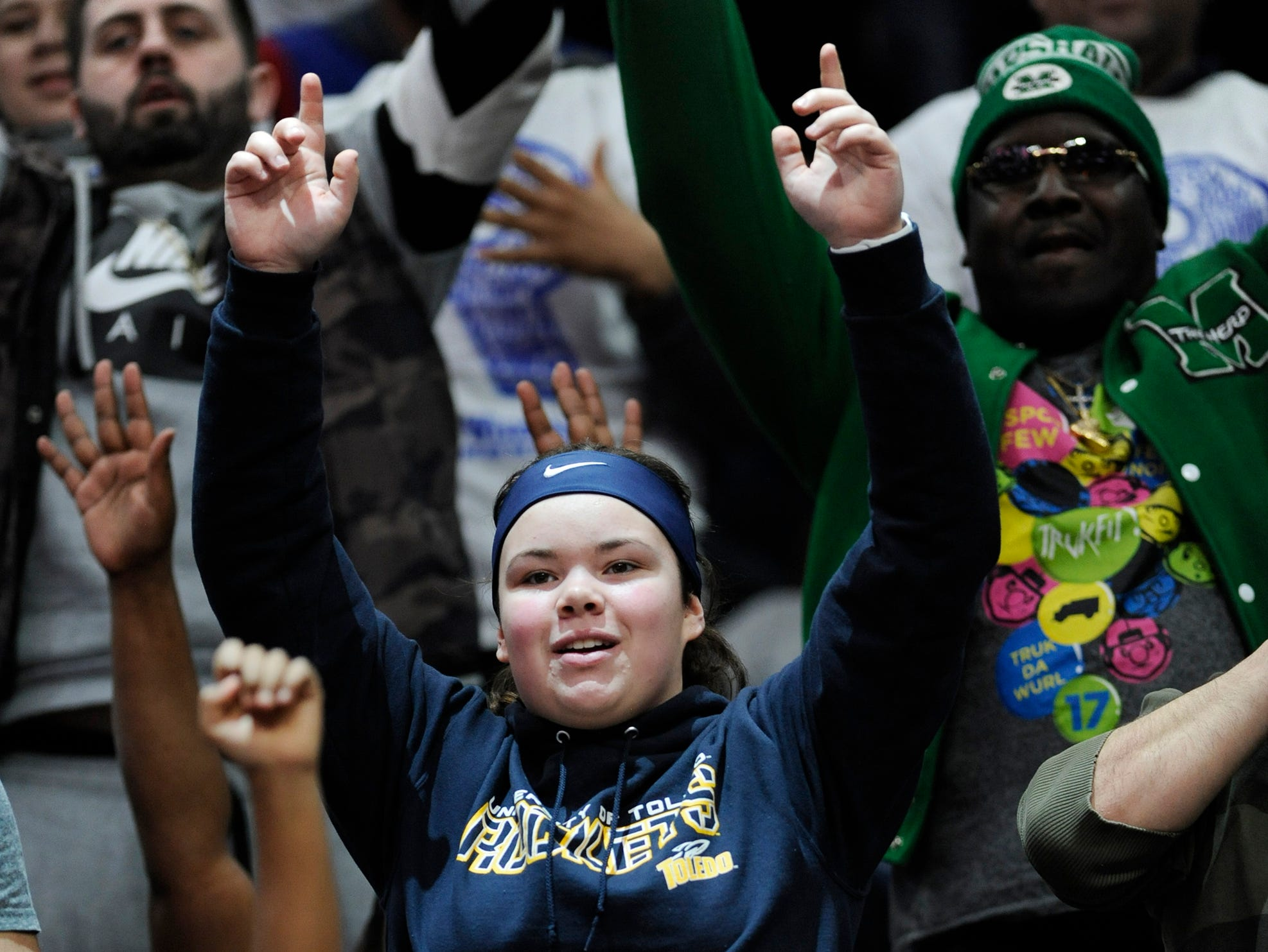 Pistons fans cheer on their team in the fourth quarter.