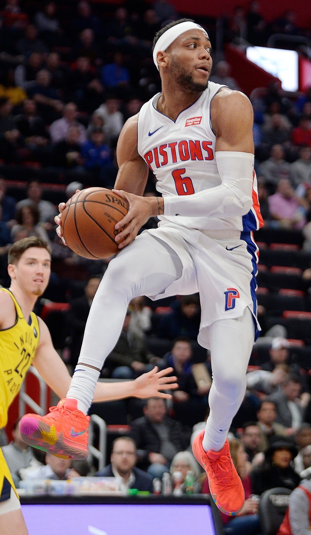 Pistons rookie Bruce Brown posted 12 points in Detroit's 119-96 win over Atlanta last Friday.