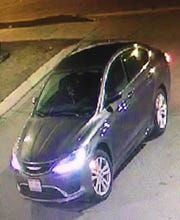 Dearborn Police seek a man and a woman who were last seen in this vehicle after they assaulted a woman and left her lying on the pavement of a parking lot on Feb. 9.