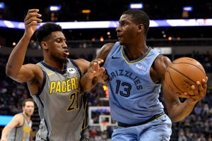 Memphis Grizzlies forward and former Michigan State standout Jaren Jackson Jr. (13) is averaging 13.8 points, 4.7 rebounds, and 1.4 blocks as a 19-year-old.