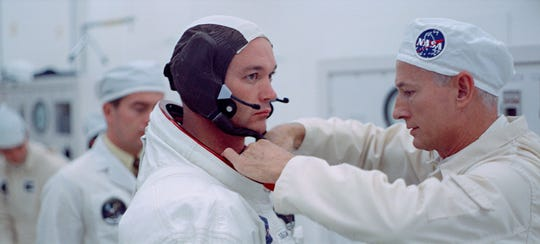 "Michael Collins in ""Apollo 11."""
