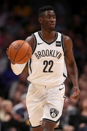 Nets guard Caris LeVert, a former Michigan standout, has missed most of the season with a dislocated right foot.