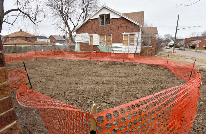 Chicago-based McDonagh Demolition was ordered to excavate this site on the 13000 block of Maiden Street in Detroit after it was discovered that some demolition materials there had not been properly removed.