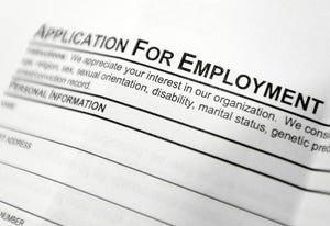 An employment application form.