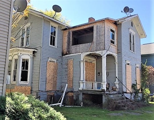 The Chemung County Land Bank purchased and tore down this abandoned house on Clinton Street in Elmira so the property could be redeveloped.