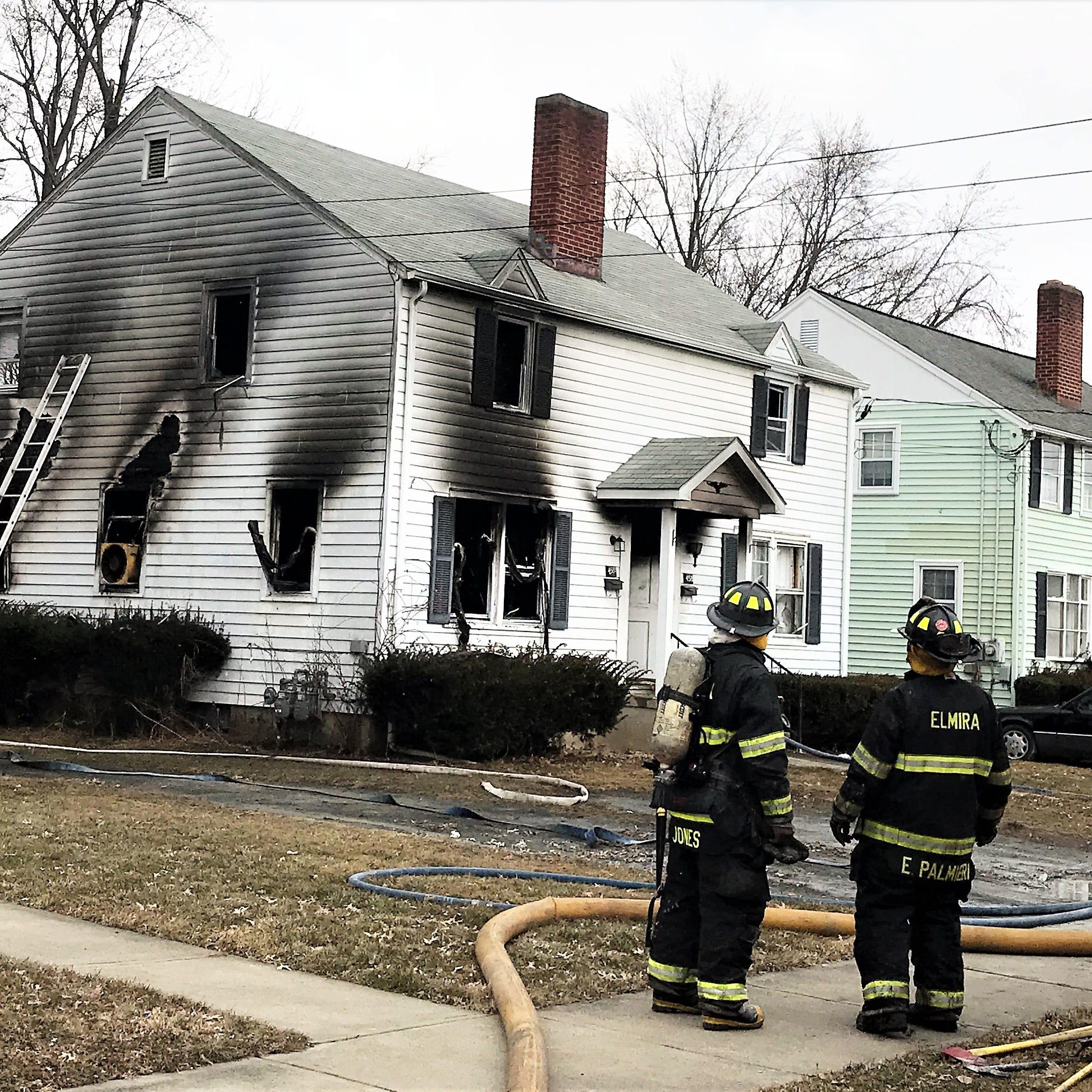 Blaze damages duplex on Elmira's Southside