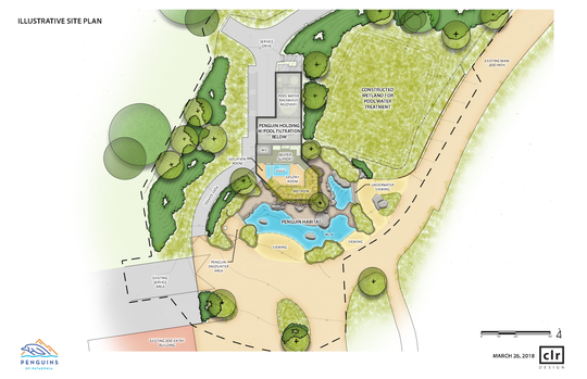An overview of the Penguins of Patagonia exhibit planned for Mesker Park Zoo & Botanic Garden.