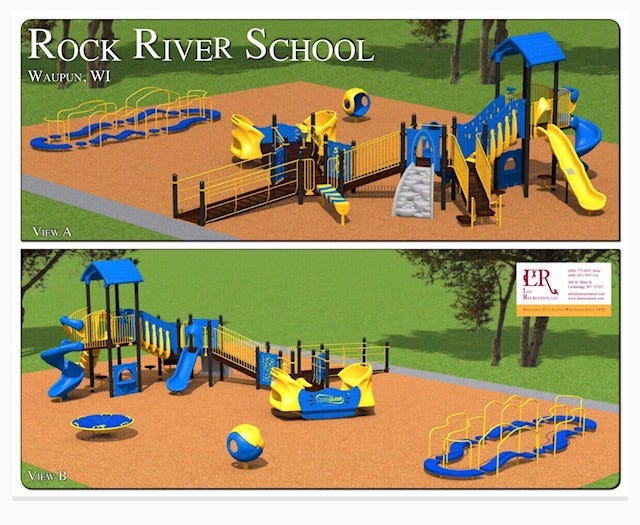 Concept art of the accessible playground, which will be open to the public.