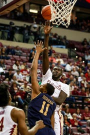 FSU senior center Christ Koumadje scored 12 points and grabbed five rebounds during the Seminoles victory over Notre Dame.