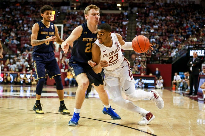 M.J. Walker (23) and Florida State defeated Notre Dame 68-61 despite being down by double digits on Monday night at the Tucker Center.