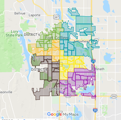 Map: Find your Fort Collins City Council district (and see who has represented you before)