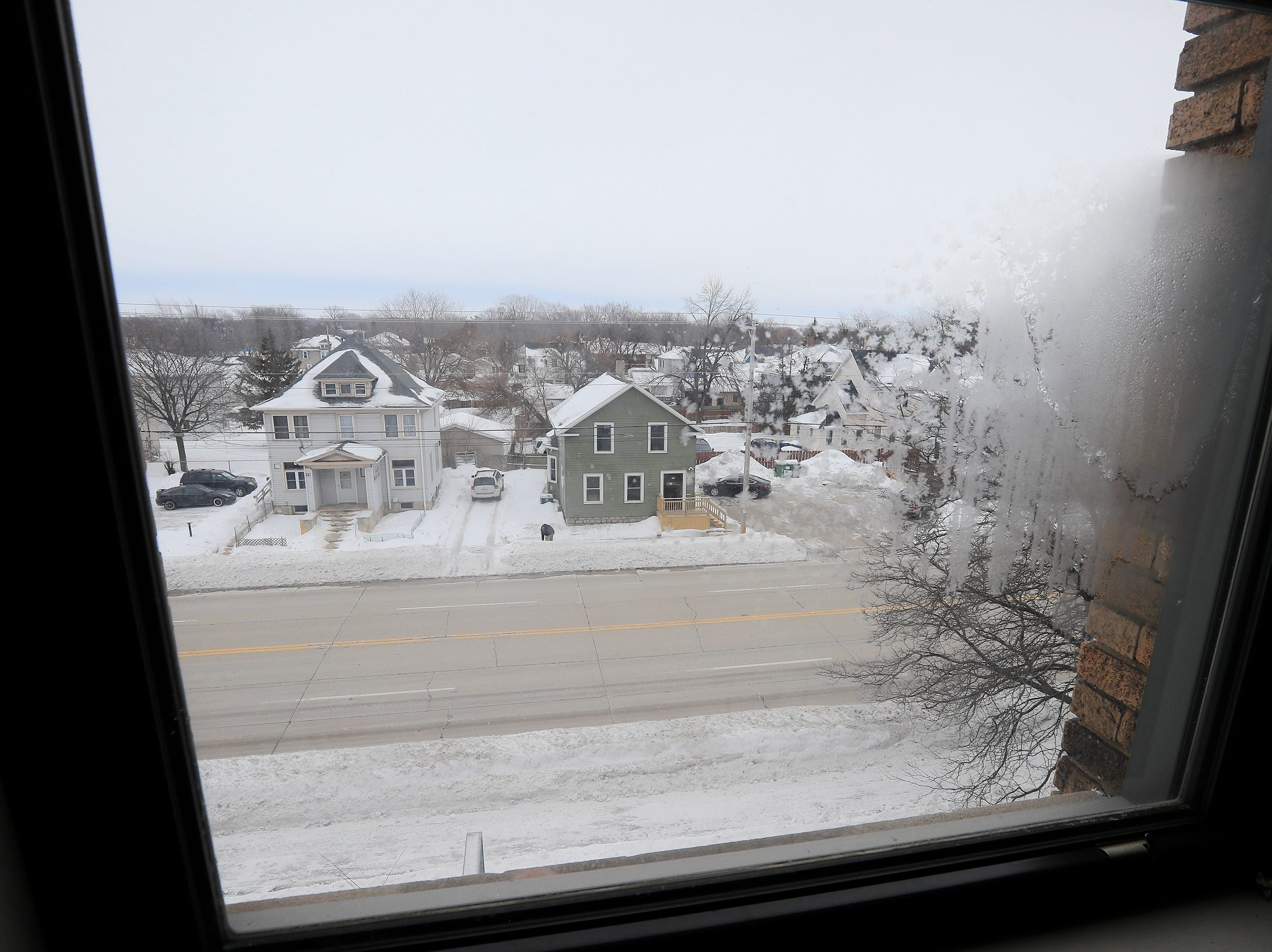 A view from inside the former Whitney School building is shown on Tuesday, February 26, 2019 in Green Bay, Wis. The building is being converted into apartments this year.