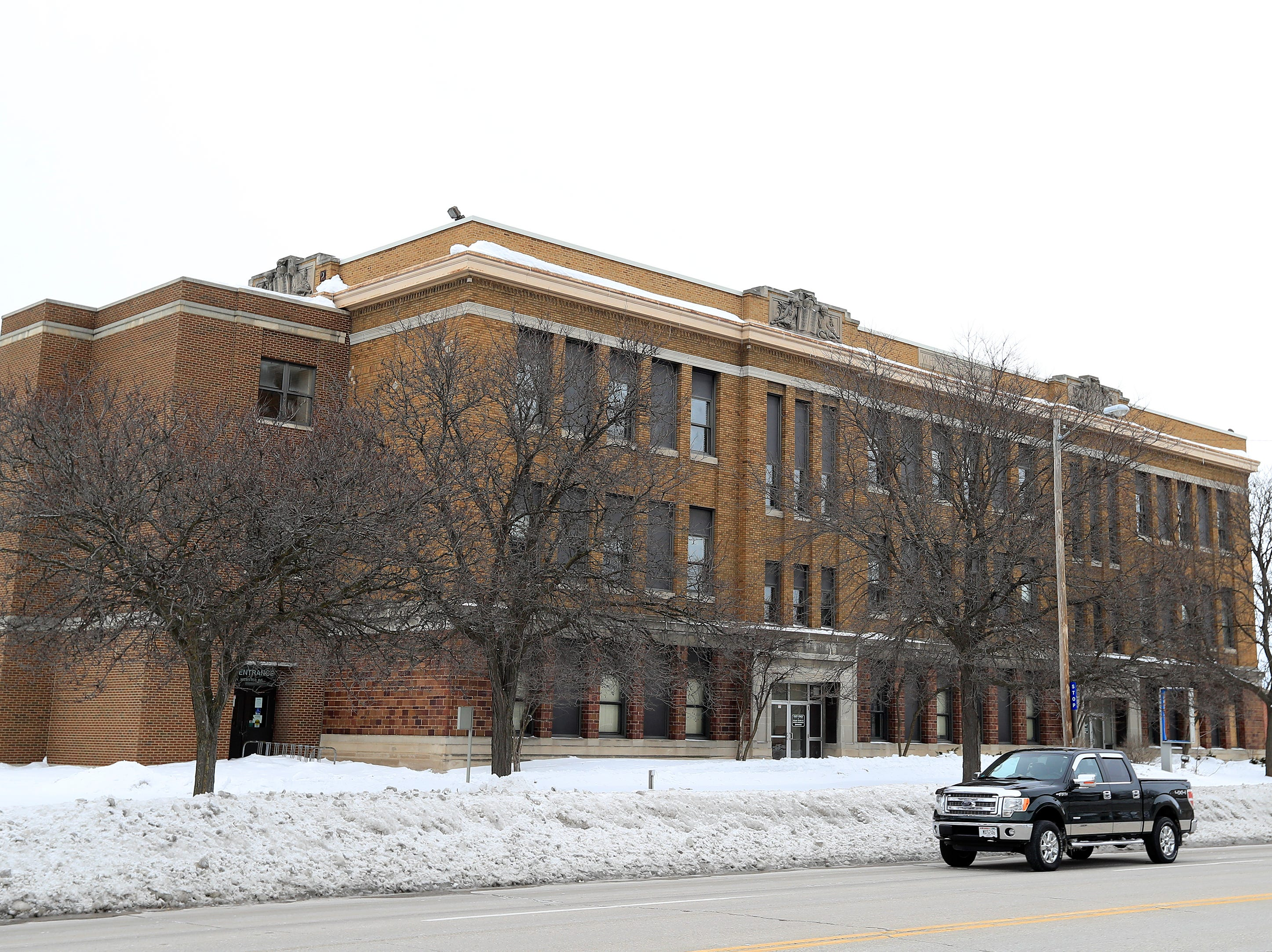 The former Whitney School building is shown on Tuesday, February 26, 2019 in Green Bay, Wis.
