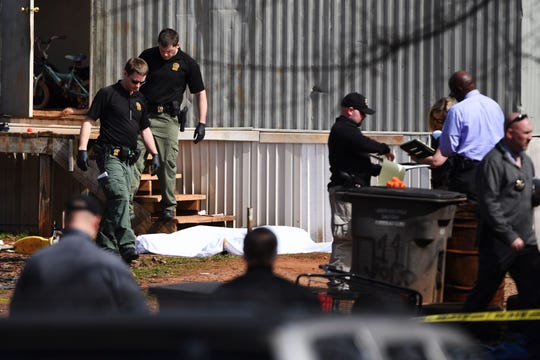 Greenville County Sheriff's Office deputies investigated a shooting death at at 2 Glass Street in the Sans Souci area on Tuesday, Feb. 26, 2019.