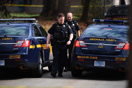 In this file photo, Greenville County Sheriff's Office deputies investigate a shooting death in Sans Souci Tuesday, Feb. 26, 2019. County officials announced Wednesday, May 29, 2019, that every deputy with a rank of sergeant and lower will receive a substantial pay increase effective immediately.