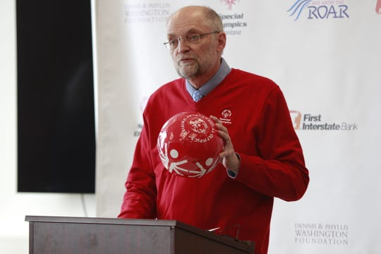 Bob Norbie, President and Chief Executive Fan of Special Olympics Montana, closing the press conference.