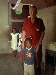 Don Miller was at an orphanage in Fedja, Haiti, in this undated photo. His church, Moscow Christian Church in Moscow, Indiana, helped to sponsor a missionary effort in Haiti that supported the construction of churches that are also used as schools and helped sponsor the orphanage.