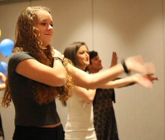 Members of the Suicide Prevention & Crisis Service team danced the Macarena during Dancing for Life in 2018.