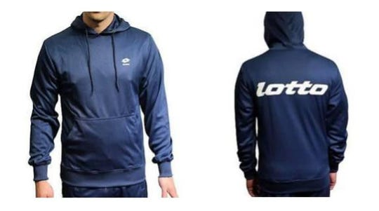 Investigators are asking the public for information on anyone who owned a Lotto Sport Italia sweatshirt similar to the one pictured. A similar sweatshirt was recovered from the scene of a burned vehicle in Dyer County where two people were found dead in early February.