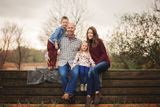 Jeff Day and his wife, Samantha, have worked out sleep routines with 6-year-old Caiden and Kensley, 4.