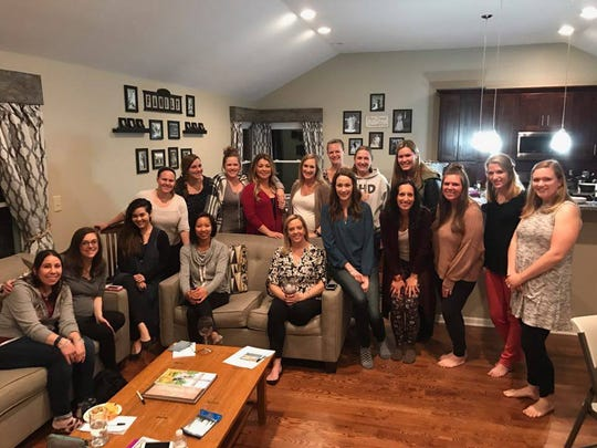 A group of mothers spent an evening learning techniques to teach sleep behavior.