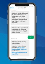 PerfectServe's patient engagement portal allows patients to get text messages securely from health care providers.