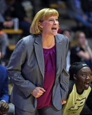 Purdue women's basketball Head Coach Sharon Versyp.