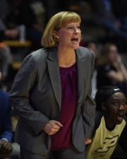 Purdue women's basketball Head Coach Sharon Versyp.