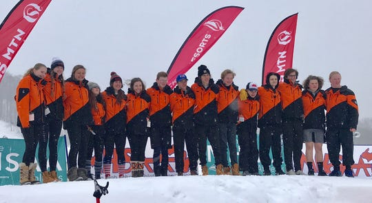 Brighton's boys were third and the girls were seventh in the state Division 1 ski meet on Monday, Feb. 25, 2019.