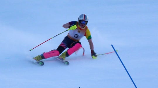 Brighton's Danny Vaughan was sixth in giant slalom and fourth in slalom at the state Division 1 ski meet.