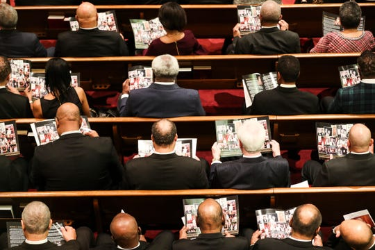 February 26, 2019 - A memorial service was held on Tuesday for the late Judge Russell Sugarmon at Metropolitan Baptist Church. An attorney, retired judge, former state representative and civil rights champion, Sugarmon, 89, died on Feb. 18 at his home, following a long illness.