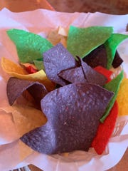 Complimentray multi-colored corn chips from Señor Tequila's Fine Mexican Grill in Golden Gate.