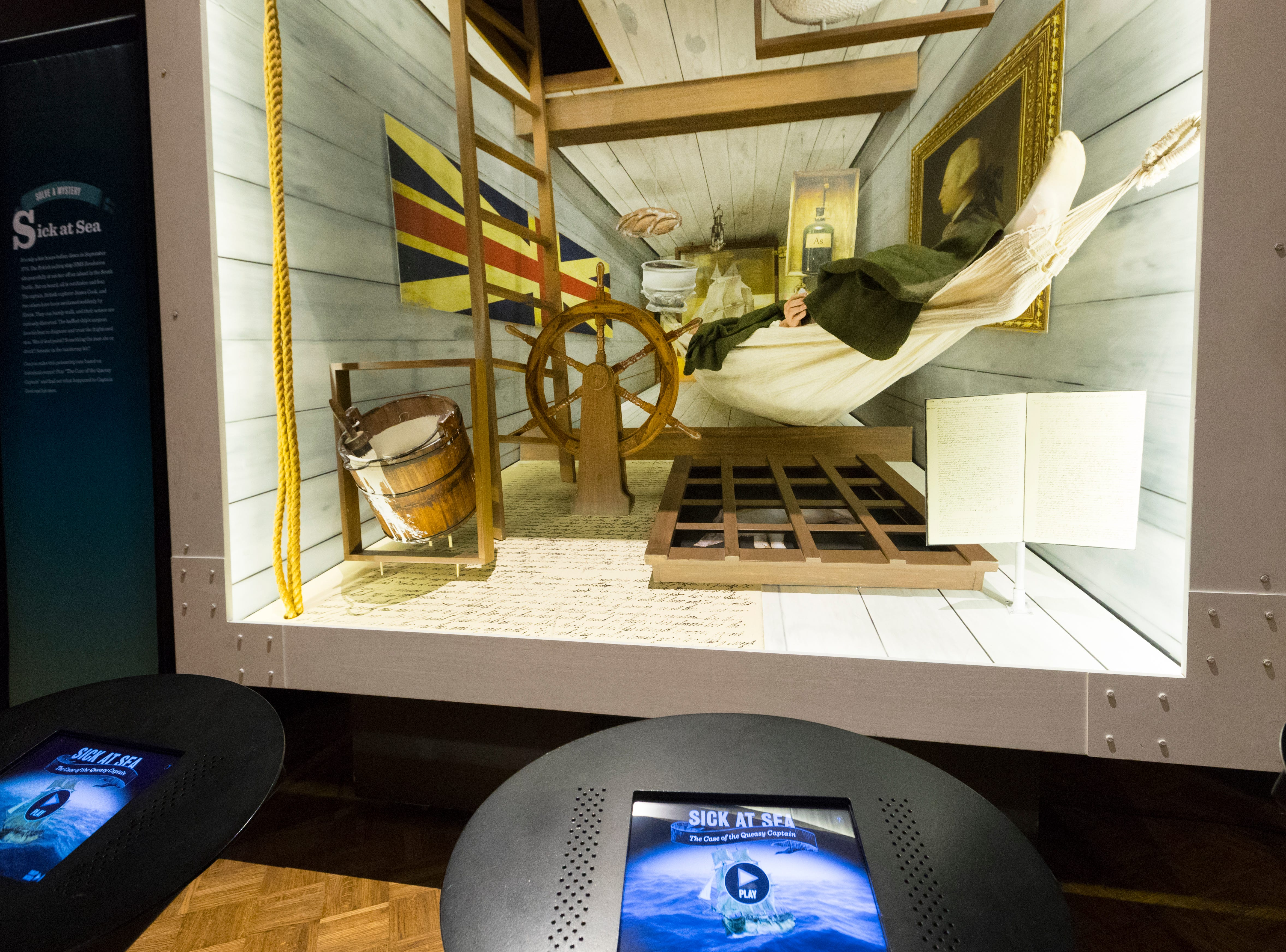 "Visitors are asked to solve what made British explorer Capt. James Cook sick in an interactive exhibit that is part of ""The Power of Poison"" at the Milwaukee Public Museum. The limited-engagement exhibit opens to the public on March 2 and runs through July 7."