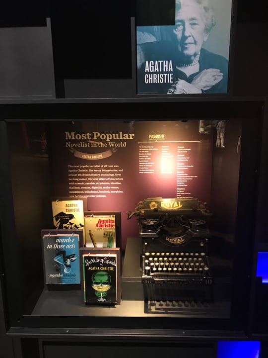 "Mystery writer Agatha Christie, who often featured poisons in her books, is featured in a new exhibit, ""The Power of Poison,"" at the Milwaukee Public Musem from March 2 to July 7."