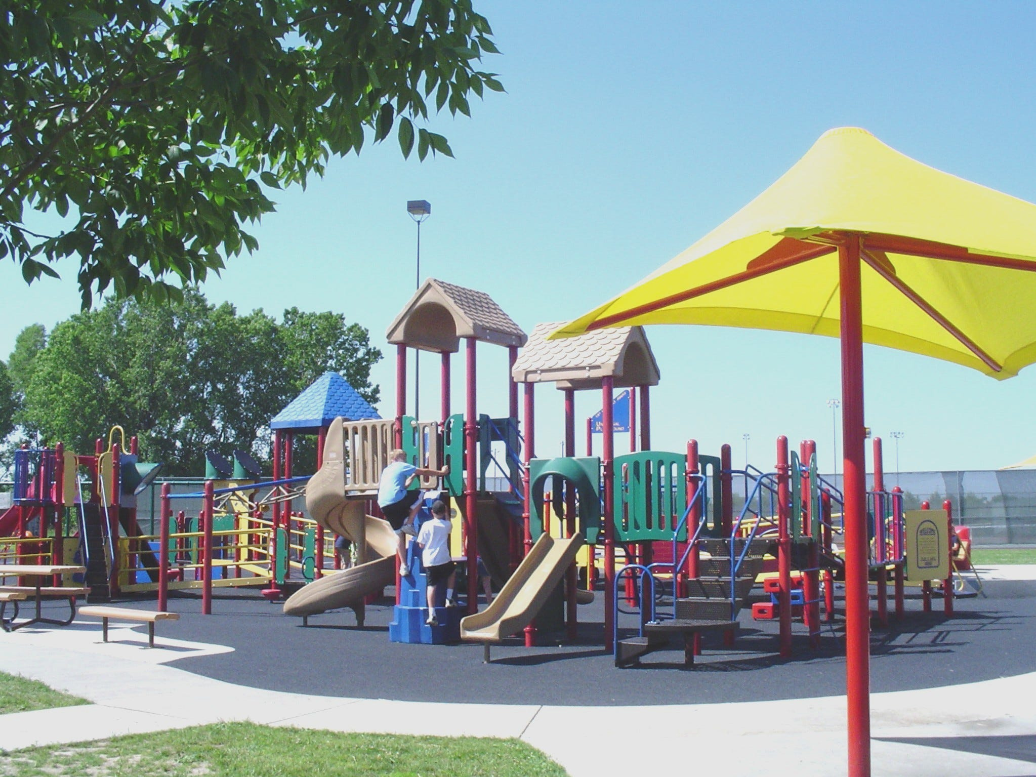 Appleton Memorial Park has an accessible playground.