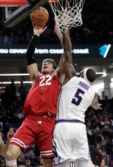 Ethan Happ expects struggling Indiana to give the Badgers its best shot when the teams meet on Tuesday.