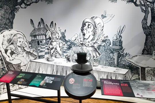"An exhibit on the origins of the Mad Hatter in ""Alice in Wonderland"" is part of an exhibit called ""The Power of Poison"" at the Milwaukee Public Museum. The limited-engagement exhibit opens to the public on March 2 and runs through July 7."