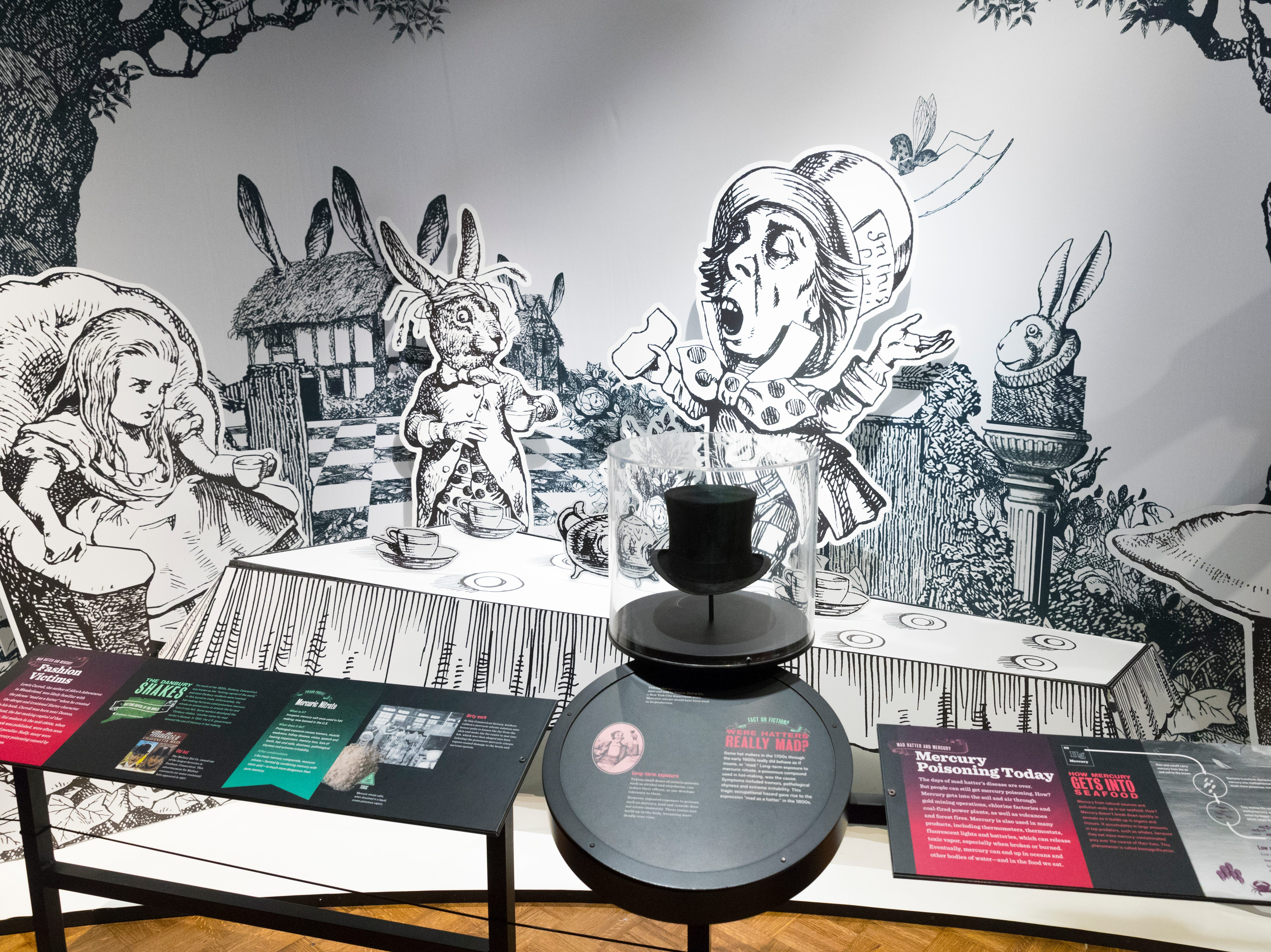 "An exhibit on the origins of the Mad Hatter is part of an exhibit called ""The Power of Poison"" at the Milwaukee Public Museum. The limited-engagement exhibit opens to the public on March 2 and runs through July 7."