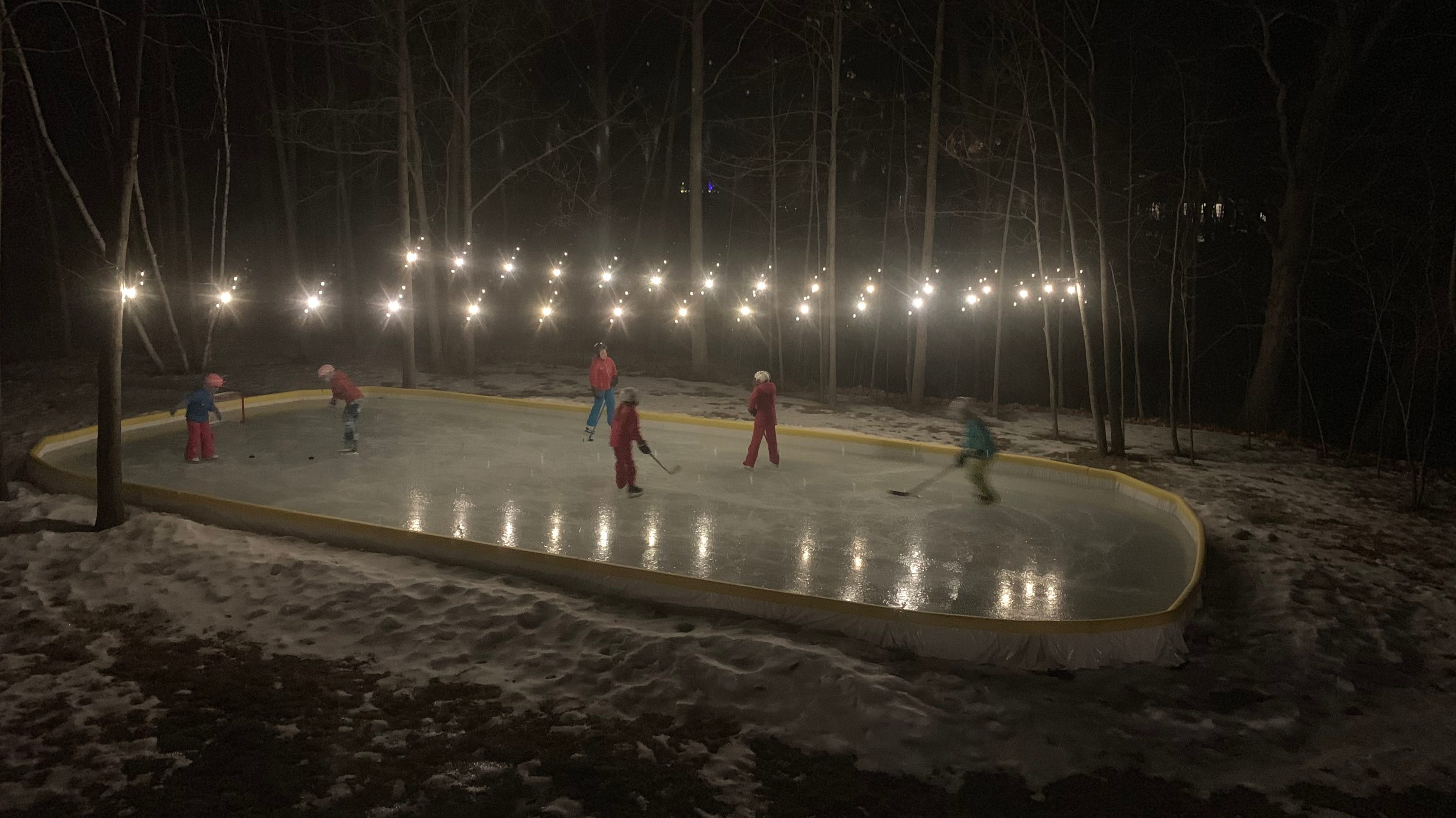 Wisconsin's backyard ice rinks make the cold weather worth it