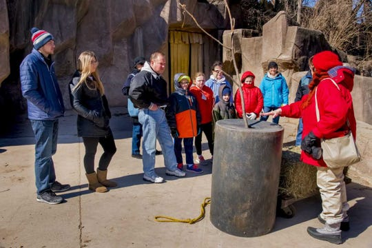 "Zoo Pride volunteers will give tours of areas that are not normally open to the public during ""Behind the Scenes Weekend"" at the Milwaukee County Zoo."