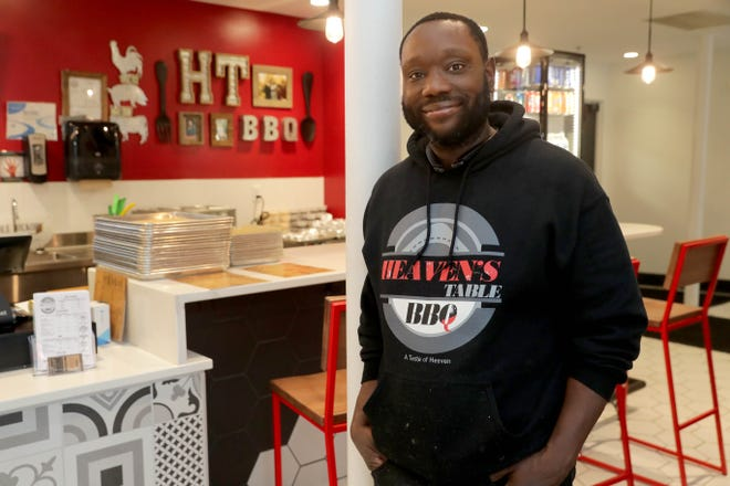 Jason Alston opened Heaven's Table BBQ at Crossroads Collective food hall at 2238 N. Farwell Ave. in December.