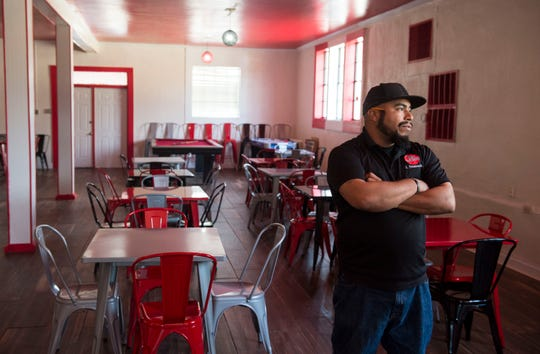 Jonathon Peterson of That's My Child stands inside the That's My Dog Jr. restaurant which will be completely run by teenagers and open next week in Montgomery, Ala., on Monday, Feb. 25, 2019.