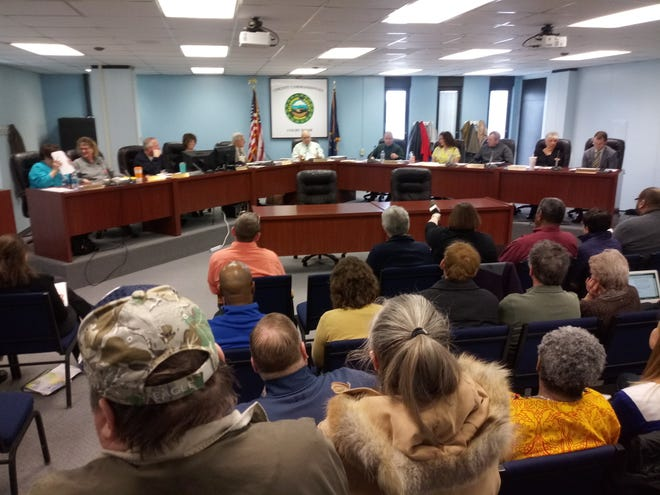 The Delaware County Council during their regular monthly meeting on Feb. 26. Council didn't back a measure that would have supported the creation of a sixth circuit court in Delaware County during their October meeting.