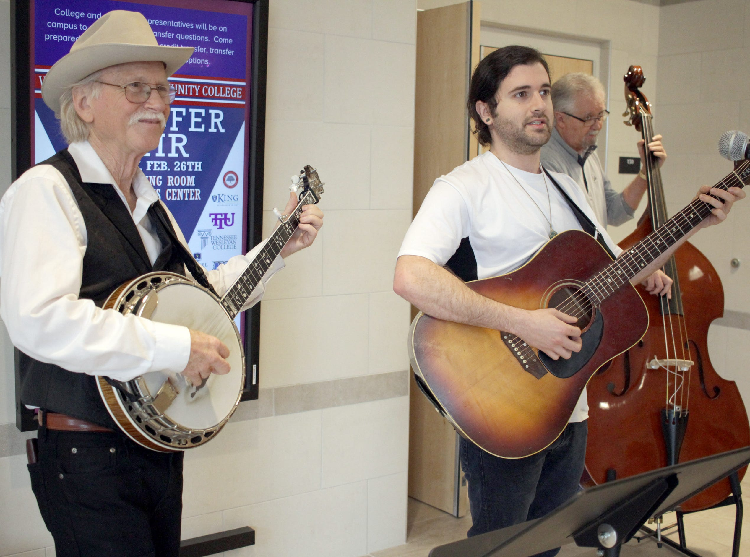 L-R Mark Burnett, Cole Harper and Keith Longbothem play at High School Music day at Volunteer State Community College on Saturday, February 23, 2019.