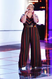Rizzi Myers performs on NBC's 'The Voice'