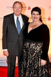Sylvia and Al Ganier pose on the red carpet at the TJ Martell 11th annual Nashville Honors Gala Monday, Feb. 25, 2019, in Nashville, Tenn.