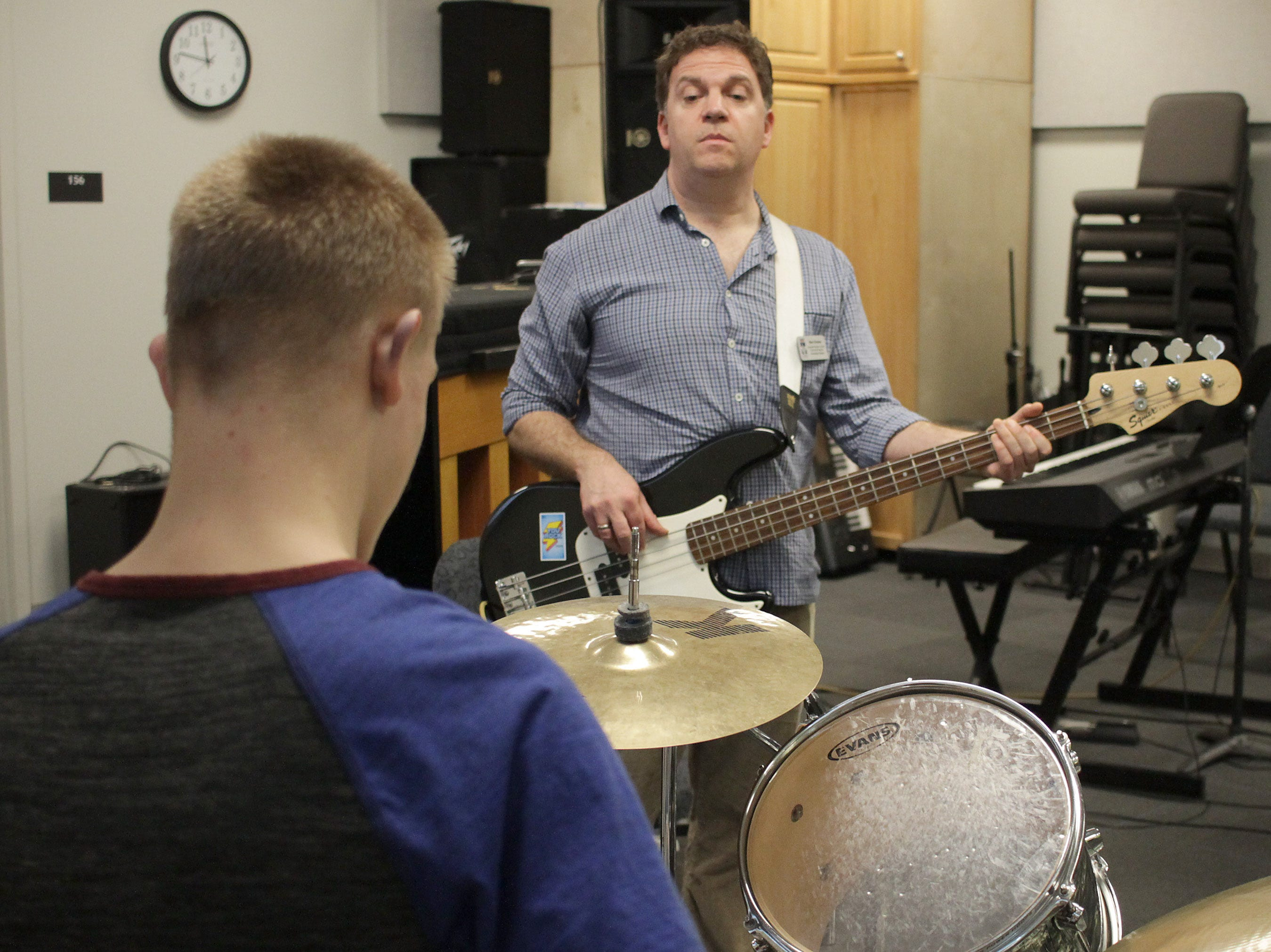 Ben Graves (Associate Professor of Music Chair) plays with students at High School Music Day at Volunteer State Community College on Saturday, February 23, 2019.