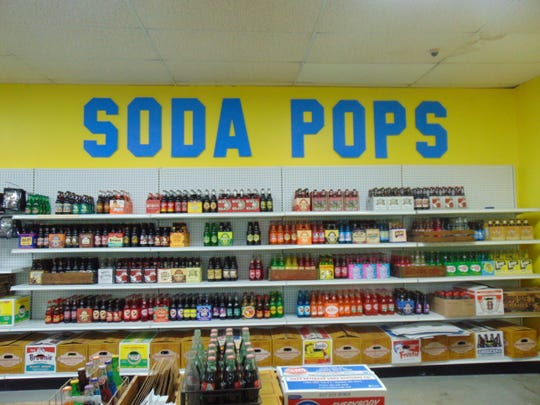 100 vintage soda options are available at Sweet Charlotte.