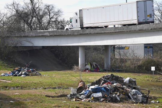 Metro decided to evict those living in the city's most visible homeless camp under the overpass at Ellington & Spring. They told residents to leave in January and outreach workers tried to help place them elsewhere until mid-February. Tuesday, Feb. 26, 2019, in Nashville, Tenn.